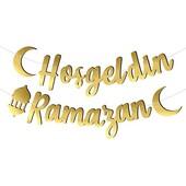 - Hoşgeldin Ramazan Metalize Gold Banner