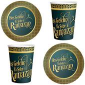 - Hoşgeldin Ramazan Tabak - Bardak Set