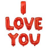 - I Love You Kırmızı Folyo Balon Seti