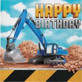 - İnşaat Partisi Happy Birthday Peçete Yeni