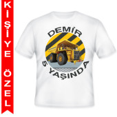 - İnşaat Partisi Kişiye Özel Baskılı T-Shirt