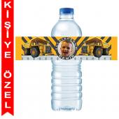 - İnşaat Partisi Kişiye Özel Su Şişesi Bandı