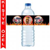 - İtfaiye Partisi Kişiye Özel Su Şişesi Bandı