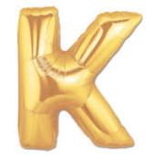 - K Harfi Altın Sarı Folyo Balon