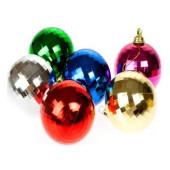 - Karışık Renk Disko Topu Çam Ağacı Süsleri