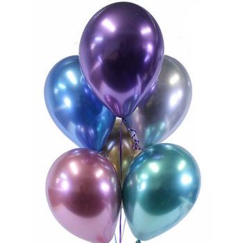 Karışık Renk Krom Lateks Balon