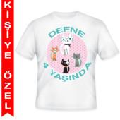 - Kedicikler Partisi Kişiye Özel Baskılı T-Shirt