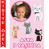 - Kedicikler Kişiye Özel Fotoğraflı Afiş