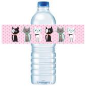 - Kedicikler Su Şişesi Etiketi