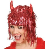 - Kırmızı Boynuzlu Şeytan Peruğu