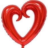 - Kırmızı Delik Kalp Folyo Balon