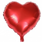 - Kırmızı Kalp Folyo Balon (45cm)