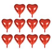 - Kırmızı Kalp Folyo Balon Seti (25 Adet) (13cm)