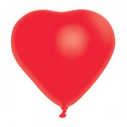 - Kırmızı Kalp Lateks Plastik Balon