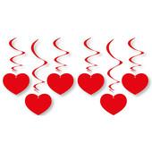 - Kırmızı Kalpler Sarkıt Süs Dalgaları