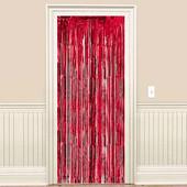 - Kırmızı Kapı - Duvar Folyo Fon Perdesi