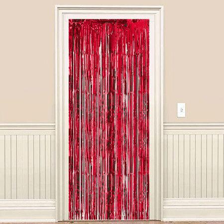 Kırmızı Kapı - Duvar Folyo Fon Perdesi