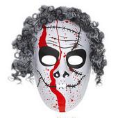- Korkunç Saçlı Beyaz Maske