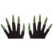 - Korkutucu Parlak Yeşil Tırnaklı Eldiven