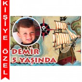 - Korsan Hazinesi Kişiye Özel Fotoğraflı Magnet