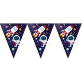 - Kozmik Galaksi Üçgen Bayrak Afiş