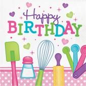 - Küçük Şef Happy Birthday Peçete
