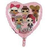 - LOL Bebek Pembe Kalp Folyo Balon