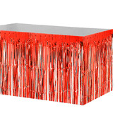 - Kırmızı Metalik Folyo Masa Eteği