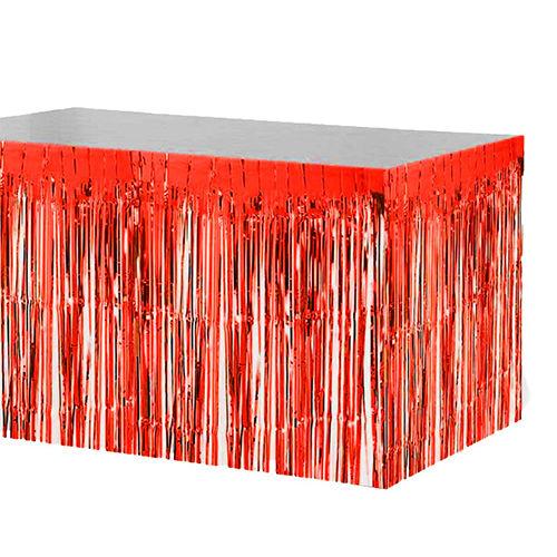 Kırmızı Metalik Folyo Masa Eteği