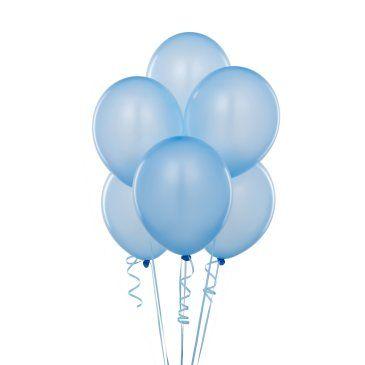 Metalik Açık Mavi Lateks Balon