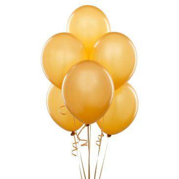 Metalik Altın Sarı Lateks Balon