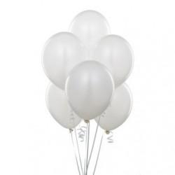 - Metalik Beyaz Lateks Balon