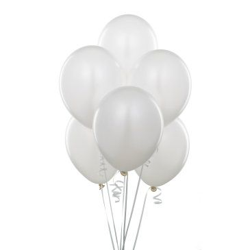 Metalik Beyaz Lateks Balon