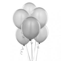 - Metalik Gümüş Gri Lateks Balon