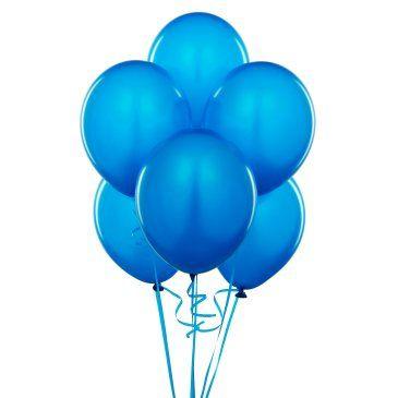 Metalik Mavi Lateks Balon