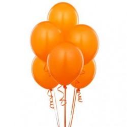 - Metalik Turuncu Lateks Balon