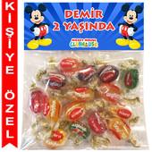 - Mickey Mouse Kişiye Özel Ambalajlı Kent Şeker