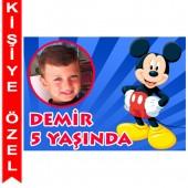 - Mickey Mouse Kişiye Özel Fotoğraflı Magnet