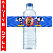 - Mickey Mouse Kişiye Özel Su Şişesi Bandı