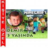 - Minecraft Kişiye Özel Fotoğraflı Magnet