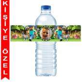 - Minecraft Kişiye Özel Su Şişesi Bandı