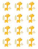 - Mini Safari Zürafalı Küçük Etiket