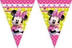 - Minnie Mouse Çiçekler Bayrak Afiş