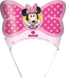 - Minnie Mouse Çiçekler Karton Taç