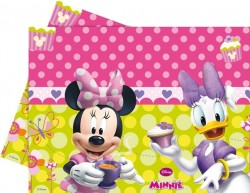 - Minnie Mouse Çiçekler Masa Örtüsü
