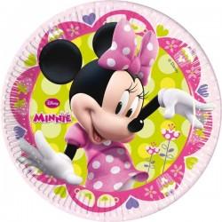 - Minnie Mouse Çiçekler Tabak