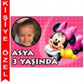 - Minnie Mouse Kişiye Özel Fotoğraflı Magnet