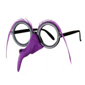- Mor Tüylü Cadı Burnu ve Gözlüğü