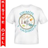 - Neşeli Dostlarım Erkek Kişiye Özel Baskılı T-Shirt