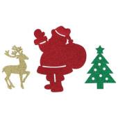 - Noel Baba, Geyik ,Çam Ağacı Simli Duvar Süsü